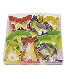 umbrella cookie cutter - R&M International 1857 Easter Cookie Cutters, Butterfly, 2 Bunnies, Duck, Umbrella, Lamb, Chick, Tulip, 7-Piece Set