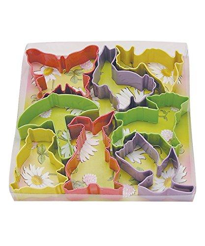 R&M International 1857 Easter Cookie Cutters, Butterfly, 2 Bunnies, Duck, Umbrella, Lamb, Chick, Tulip, 7-Piece Set