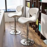 Modern PU Leather Adjustable Bar Stools Stainless