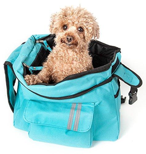 PET LIFE Back-Supportive Over-The-Shoulder Fashion Designer Collapsible Travel Pet Dog Carrier, One Size, Light Blue