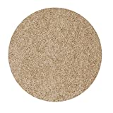 Bright House Solid Color Area Rug, 5' L, Round, Beige