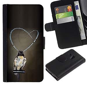 iBinBang / Flip Funda de Cuero Case Cover - Perlas gris profunda depresión - Samsung Galaxy S3 MINI NOT REGULAR! I8190 I8190N