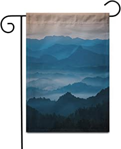 """Awowee 28""""x40"""" Garden Flag The Mountains Blue Ridge Parkway Welcome Morning Light Outdoor Home Decor Double Sided Yard Flags Banner for Patio Lawn"""