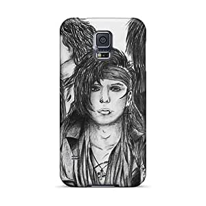 NataliaKrause Samsung Galaxy S5 Shock Absorbent Cell-phone Hard Cover Customized HD Black Veil Brides Band BVB Image [doD20130oGfP]