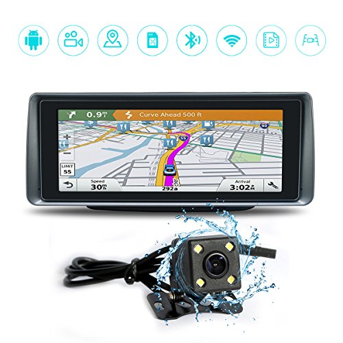Skyfame Navigation Dash CAM Android navigation Car DVR Android Track Reversing Image With 3G Network WIFI Bluetooh phone Infrared Night Vision Dual camera