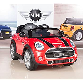 bigtoysdirect 12v mini cooper kids electric ride on car with mp3 and remote control red