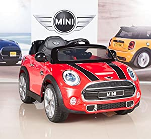 bigtoysdirect 12v mini cooper kids electric ride on car with mp3 and remote control. Black Bedroom Furniture Sets. Home Design Ideas