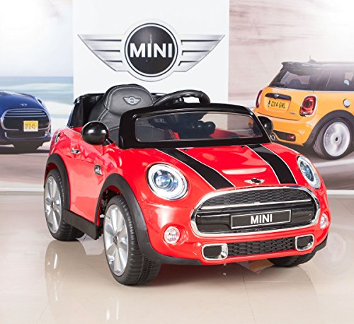 BigToysDirect 12V MINI Cooper Kids Electric Ride On Car with MP3 and Remote Control - Red