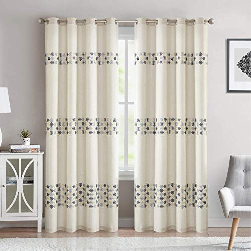 Pattern Leaf Mission (LoyoLady Private Custom Beige Eight-leaf Clover Pattern Thermal Insulated Grommet Top Curtains, Single Panel Sales)