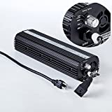Hongruilite 600W 1000W HPS MH Digital Electronic Dimmable 600 watt Grow light Ballast Built-in Fan UL ETL Listed for Indoor Hydroponic Growing System (600W)