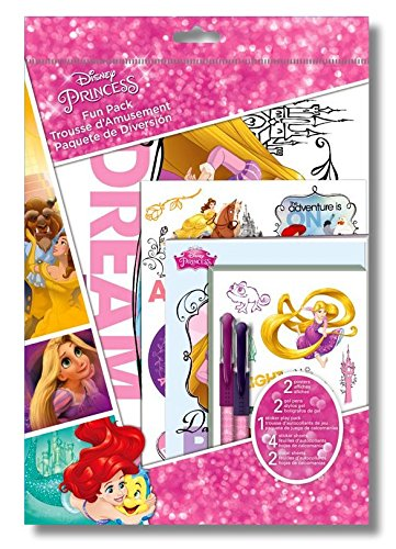 Disney Princess Activity Fun Pack With Stickers, Sticker Play Pack, Posters & 2 Colored Gel (Disney Princess Temporary Tattoo Book)