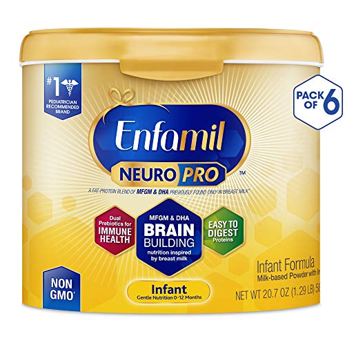- Enfamil NeuroPro Baby Formula Milk Powder, 20.7 Ounce (Pack of 6), Omega 3, Probiotics, Brain Support