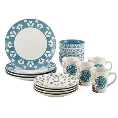 Rachael Ray Pendulum 16-Piece Stoneware Dinnerware Set