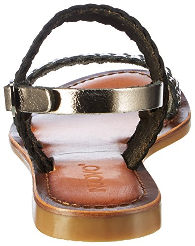 Inuovo 7236 - Tira de tobillo Mujer Schwarz (PEWTER-BLACK)
