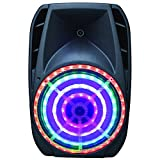 SuperSonic Portable Bluetooth DJ Speaker with Stand 15-Inch, Black (IQ-5015DJBT)