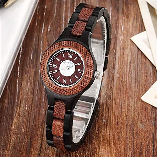 Ladies Watch Tiger Woods (Fashion Wooden Women Unique Sculpture Dial Ladies Bracelet Wood Quartz Wris Watches wood 178)