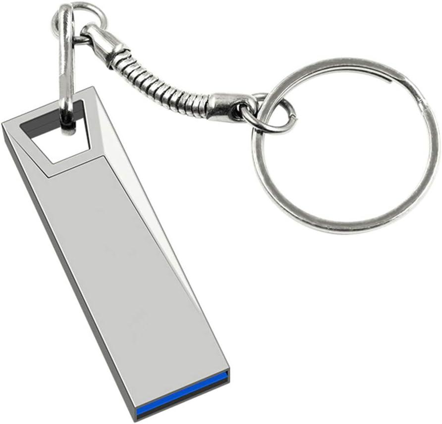 FeliSun USB 3.0メタルフラッシュドライブPendriveメモリスティックUSBキースティック付きビジネス、仕事、学校用(128GB、シルバー)