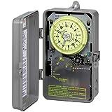 Intermatic R8816P101C Timer, 240V 3HP DPST Sprinkler & Irrigation Mechanical Timer w/ 14-Day Skipper