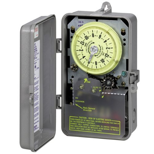 Intermatic R8816P101C Timer, 240V 3HP DPST Sprinkler & Irrigation Mechanical Timer w/ 14-Day Skipper