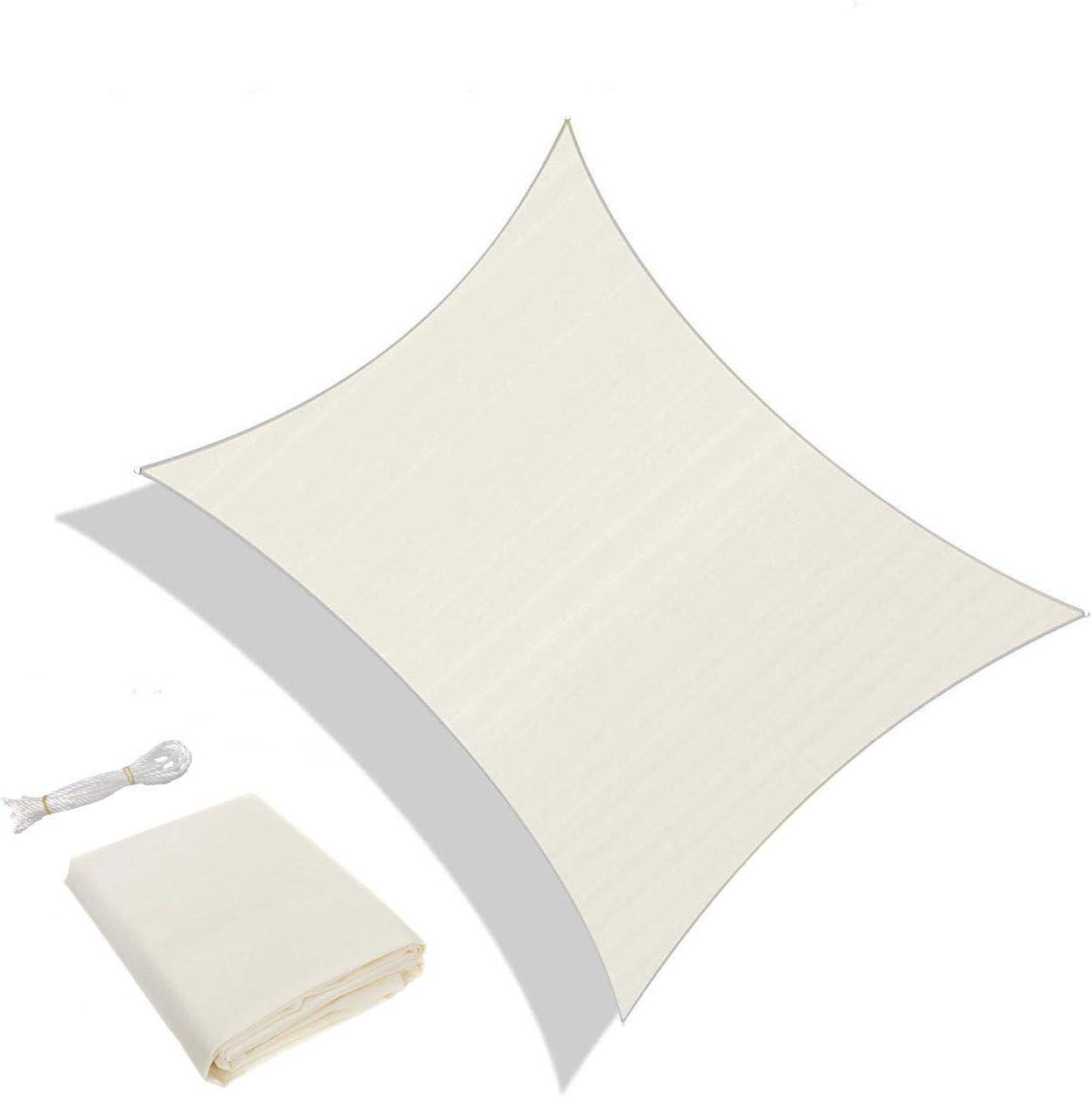 Coloris Cr/ème AXT SHADE Voile dombrage Rectangulaire 3,5 x 4,5m Une Protection des Rayons UV et Mati/ère Traspirante pour Ext/érieur//Terrasse//Jardin