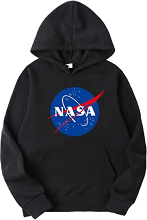 NASA SPACE LOGO PRINT TRENDY STYLISH HOODIES 7 COLORS 5 SIZES AVAILABLE