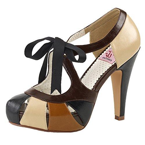 Heels-Perfect - Pantuflas de caña alta Mujer Mehrfarbig (beige)