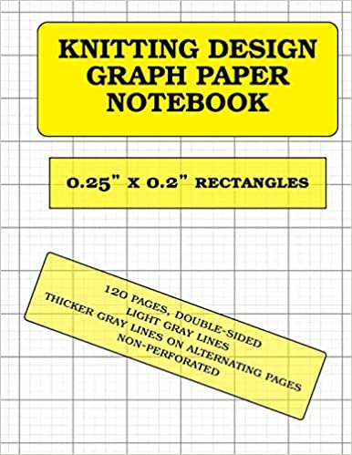 Knitting Design Graph Paper X 0 2 Rectangles 120 Pages