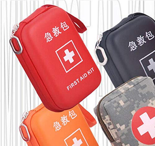 Portable First Aid Kit Travel Medical Box for Camping, Hiking-Orange by Generic (Image #1)