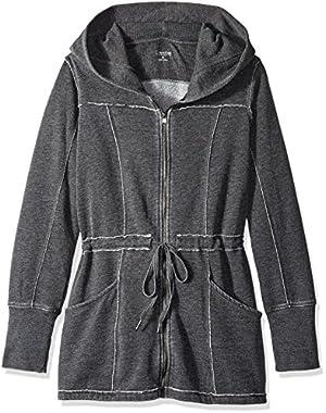 Performance Women's Distressed Fleece Hooded Walker Coat