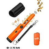 Metal Detector,Portable High Sensitivity Metal Detector 360° Scanning Unearthing Treasure Finder One-button Gold Hunter Vibration Beep LED Indicator Detector with Woven Holster & Storage Bag