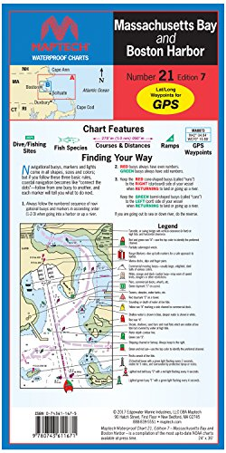 Massachusetts Bay and Boston Harbor. Maptech Waterproof Chart Number 21 Edition 7 WPC021-03