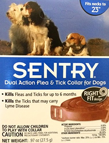 Sentry Dual Action Flea & Tick Collar For Dogs Tick Fresh Po