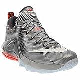 Nike LeBron XII Low Men's Basketball Shoes 724557-014 Wolf Grey White-Dark Grey-Hot Lava 8.5 M US