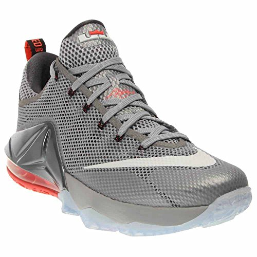 7fd46a709748f Galleon - NIKE Lebron XII Low Men's Basketball Shoes 724557-014 Wolf Grey  White-Dark Grey-Hot Lava 9.5 M US