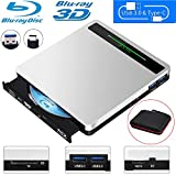 NOLYTH External Bluray Drive 5-in-1 External Blu Ray Drive USB3.0 Bluray Drive Player Burner for Laptop/MacBook/Windows10/PC with SD TF Card Reader/2 USB3.0 Hub/BD-ROM/R/RE