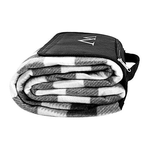 Personalized Black & White Plaid Tailgate Picnic (Plaid Tailgate)