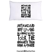 Just A Wizard Boy Funny Harry Potter Pillowcase by BeeGeeTees (1 Queen Pillowcase)