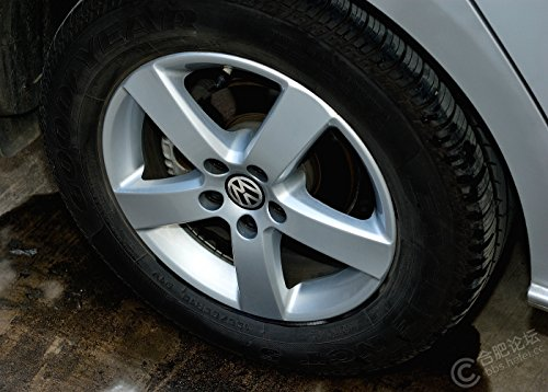 Autowcc 55MM Wheel Hub Caps Sticker VW 2.16inches Emblem Badge Sticker Centre Cover for Volkswagen
