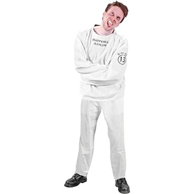 Amazon.com: Adult's Straight Jacket Halloween Costume: Clothing