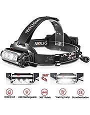Lampe Frontale zoomable 8 Modes Lighting Rechargeable USB 2500 lumens Éclairage 300M, Étanche IPX4 Torche Frontale Légère Puissante pour Enfants Adultes Running, Randonnée, Camping
