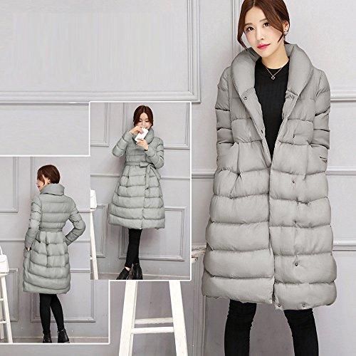 Warm Coat Winter Cotton Jacket OYSOHE Parka Long Belt Womens Gray Clearance Fashion Thicker Outwear w4xY1xqn8t
