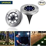 Sanming Outdoor Ground Lights,8 LED Garden Pathway Outdoor In-Ground Lights Waterproof for Patio Yard Driveway Landscape Lighting Walkway Lights(4 pack)