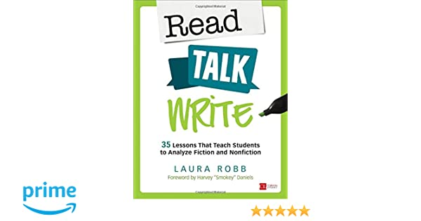 Amazon.com: Read, Talk, Write: 35 Lessons That Teach Students to ...