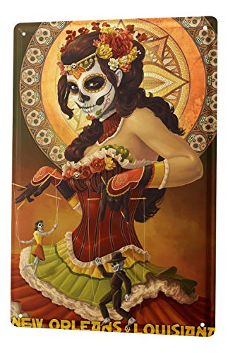 LEotiE SINCE 2004 Tin Sign Holiday Travel Agency New Orleans Voodoo