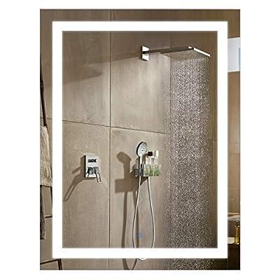 HomCom LED Wall Mount Bathroom Vanity Make up Mirror w/Defogger