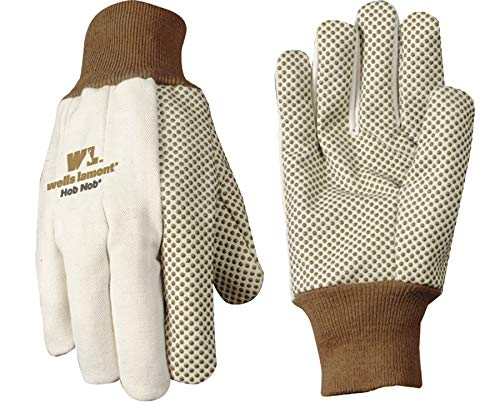 Wells Lamont Jersey Work Gloves with Hob Nob Dots, Wearpower, Basic, One Size (310) - Chore Cotton Gloves