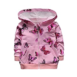 Clode® Baby Girls Infant Toddler Autumn Winter Butterfly Print Hooded Coat Jacket
