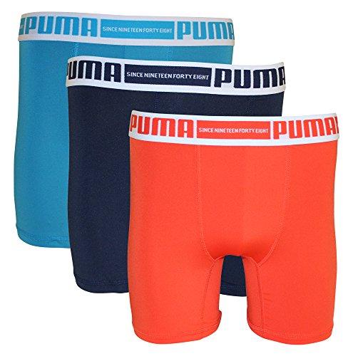 (PUMA Men's 3-Pack PMTBB 3-Pack Boxer Brief Sport Stretch White/Orange L)
