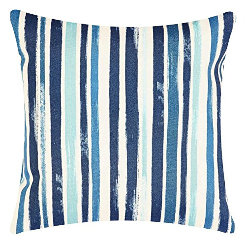 Cape Cod Beach Chair - Throw Pillow Covers Decorative Tommy Bahama Outdoor Fabric Blue Stripe 18 x 18 Pk 1