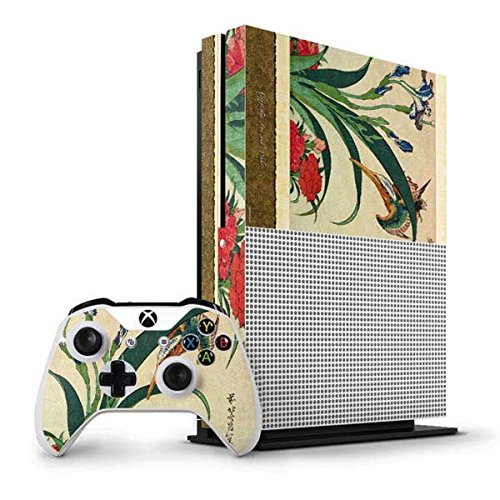 hokusai-xbox-one-s-vertical-bundle-skin-kingfisher-iris-and-pinks-vinyl-decal-skin-for-your-xbox-one